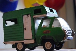 vintage tonka truck green toy